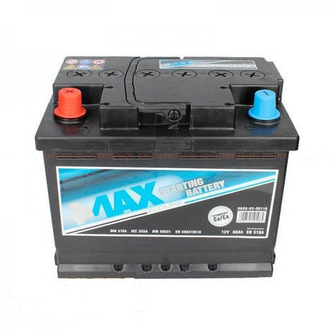 4Max 6СТ-60 Аз Ecoline (0608-03-0011Q) Автомобильный аккумулятор, фото 2