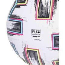 М'яч футбольний офіційний Adidas Uniforia Pro OMB Euro-2020 FH7362 Білий, фото 3