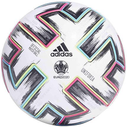 М'яч футбольний офіційний Adidas Uniforia Pro OMB Euro-2020 FH7362 Білий, фото 2