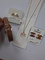 Женское кольцо из медицинского золота.