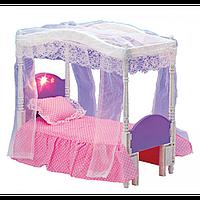МЕБЕЛЬ 2026 кровать с балдахином, 30-26 см, музыка, свет, на батарейке, в коробке.