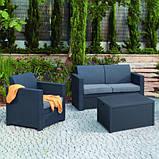 Стол-сундук Allibert Arica Cushion Box Table Graphite ( графит ) из искусственного ротанга, фото 2