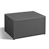 Стол-сундук Allibert Arica Cushion Box Table Graphite ( графит ) из искусственного ротанга, фото 4