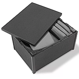 Стол-сундук Allibert Arica Cushion Box Table Graphite ( графит ) из искусственного ротанга, фото 5