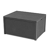 Стол-сундук Allibert Arica Cushion Box Table Graphite ( графит ) из искусственного ротанга, фото 6