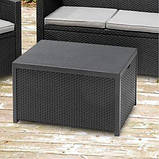 Стол-сундук Allibert Arica Cushion Box Table Graphite ( графит ) из искусственного ротанга, фото 8