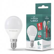 Лампа світлодіодна шар G45 LED 6W E14 4100K Titanum
