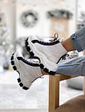 Кросівки Prada Milano Sneakers Block White Black (Кросівки Прада Мілано), фото 3