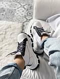 Кросівки Prada Milano Sneakers Block White Black (Кросівки Прада Мілано), фото 4
