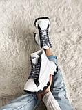 Кросівки Prada Milano Sneakers Block White Black (Кросівки Прада Мілано), фото 7