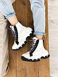 Кросівки Prada Milano Sneakers Block White Black (Кросівки Прада Мілано), фото 2