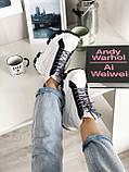 Кросівки Prada Milano Sneakers Block White Black (Кросівки Прада Мілано), фото 6