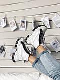 Кросівки Prada Milano Sneakers Block White Black (Кросівки Прада Мілано), фото 5