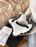 Кросівки Prada Milano Sneakers Block White Black (Кросівки Прада Мілано), фото 9