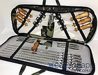 Набор шампуров в кейсе, подарочный набор, модель 4
