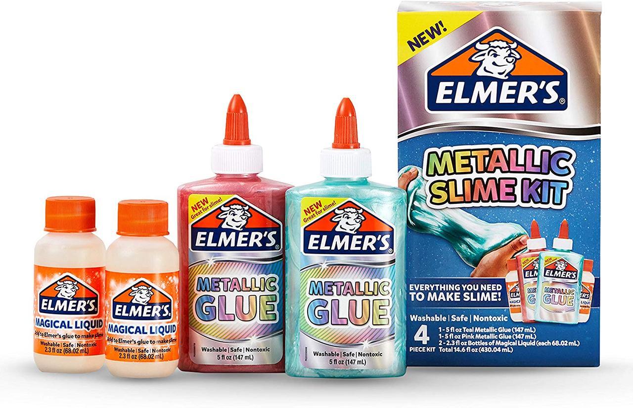Набор Elmer's для изготовления слайма с металлическим отливом. Elmer's Metallic Slime Kit, из США