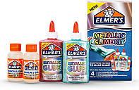 Набор Elmer's для изготовления слайма с металлическим отливом. Elmer's Metallic Slime Kit, из США, фото 1