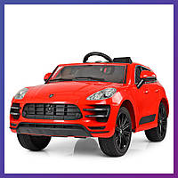 Детский электромобиль Porsche c пультом Bambi M 4009 EBLR-3 красный | Дитячий електромобіль Бембі червоний