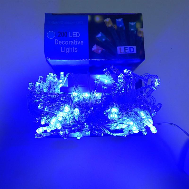 Гирлянда Нить электрическая 240 led, голубая, прозрачный провод, 13м.