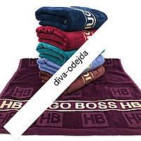 """Банное полотенце с надписью """"Hugo Boss"""".Размер:1,4 x 0,7"""