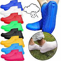 Оригинальные качественные водонепроницаемые многоразовые силиконовые чехлы для обуви размер S, M, L