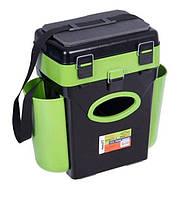 Зимний рыболовный ящик Helios (Тонар) 10 л зеленый