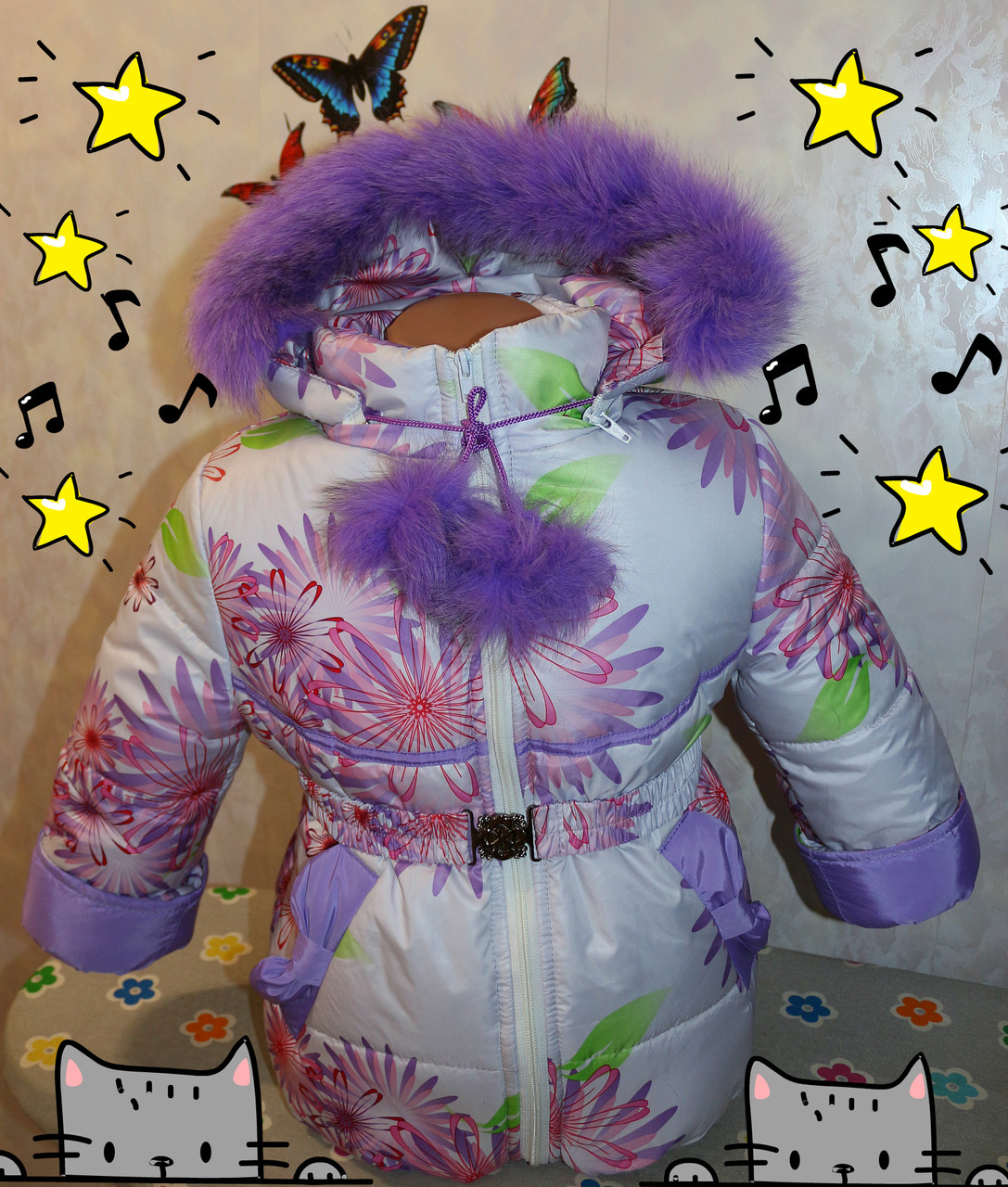 Зимний комбинезон +куртка 32 р. (натуральная опушка)