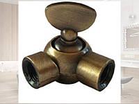 Поворотный шарнир с зажимом бронза для светильников и подвесов в индустриальном стиле