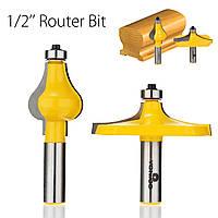 2шт. 1/2 дюймов Брелок для поручней с поручнем для дверных ручек Набор для обработки дерева Инструмент-1TopShop