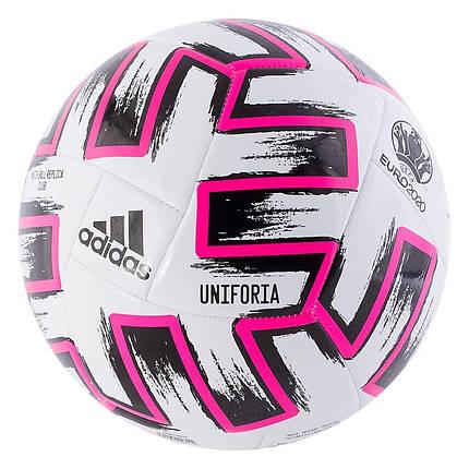 Мяч футбольный Adidas Uniforia Club Euro 2020 №5 FR8067 Белый (4060517725366), фото 2