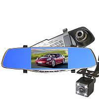 """Зеркало - видеорегистратор 5"""" дюймов с видеопарковкой и камерой заднего вида. Модель ЕА930 + 8 Гб карта памяти"""