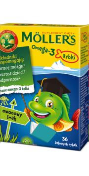 Рыбий жир  для детей  с фруктовым вкусом Mollers Tran  Fish 36 шт.
