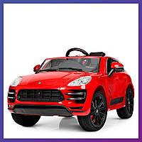 Детский электромобиль Porsche c пультом Bambi M 4009 EBLRS-3 красный   Дитячий електромобіль Бембі червоний