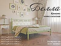 Металлическая кровать Белла, ТМ «Металл-Дизайн» Черная медь/Коричневый/Черное золото, 1200х1900(2000)