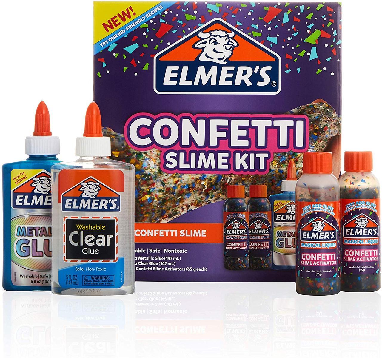 Набор Elmer's для изготовления слайма с конфетти. Elmer's Confetti Slime Kit, из США