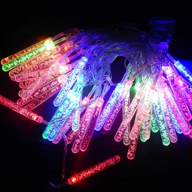 Гирлянда Сосульки с пузырьками, 40 led, мульти, прозрачный провод, 5м.