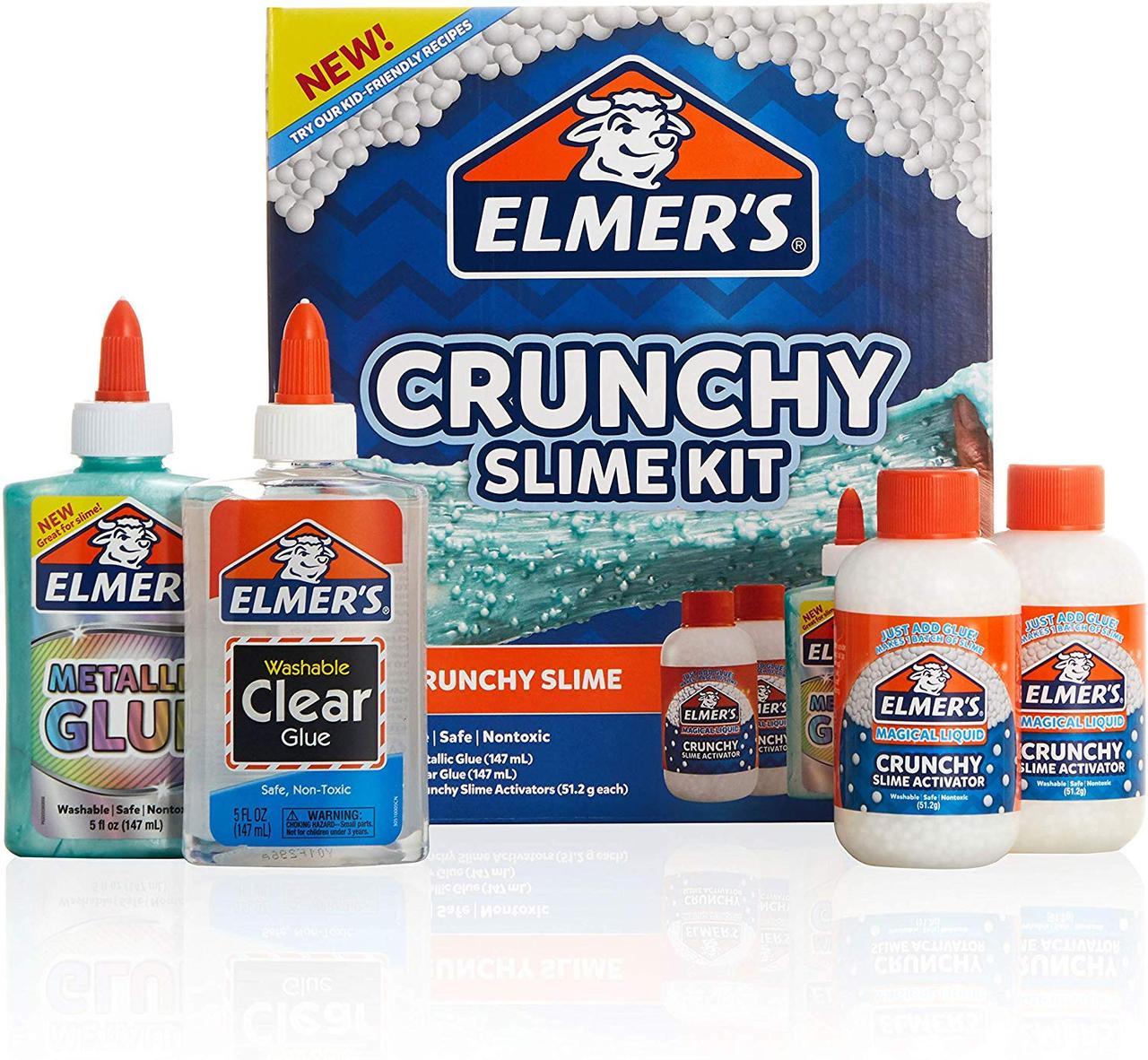 Набор Elmer's для изготовления хрустящего Кранчи слайма. Elmer's Crunchy Slime Kit, из США