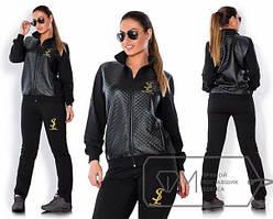 Женский спортивный батальный костюм со стеганной курткой tez1515200