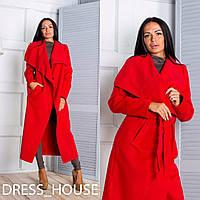 Женское удлиненное пальто-кардиган в разных расцветках tez50276