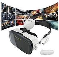 3D очки виртуальной реальности VR Z4 с наушниками и пультом, фото 1