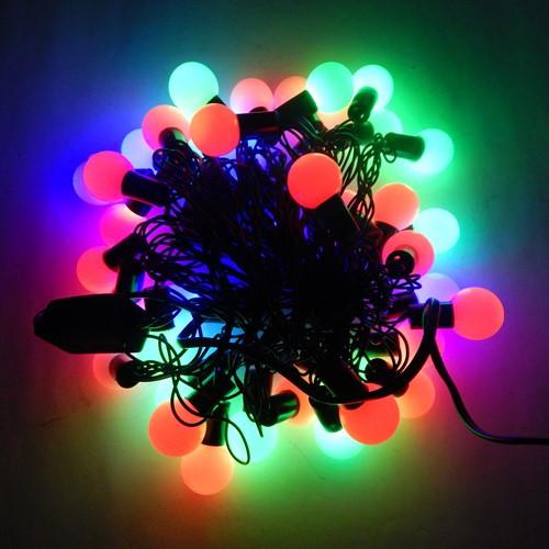 Гирлянда МультиШарики, 40 led, размер фигурки: 1.8см, мульти, черный провод, 5,2м.