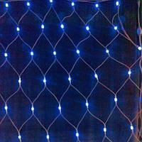 Гирлянда Сетка, 120 led, голубая, прозрачный провод, 1.6х1.6м.