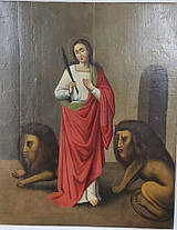 Икона св. Даниил с предстоящими 19 век, фото 3