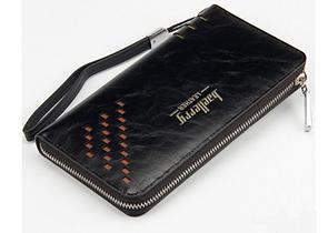 Портмоне Baellerry Leather Model 2 мужской кошелек для дешег, карточек, телефона