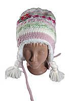 Детская зимняя шапка ушанка на девочку р 52-54