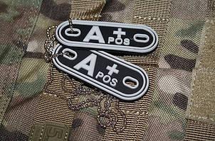 JTG A Pos Blood Type Dog Tags SWAT