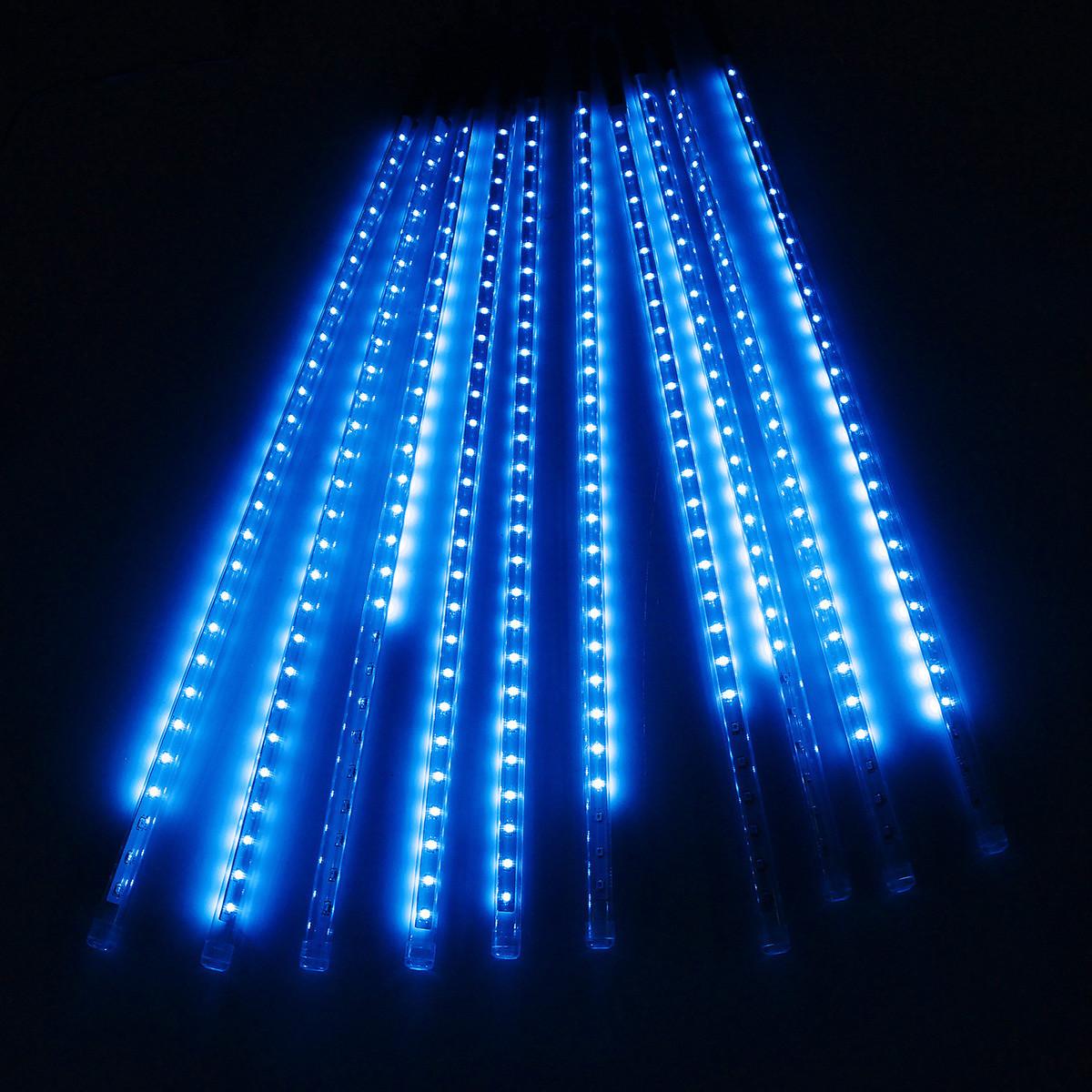 Гирлянда Метеоритный дождь, 1шт, 48 led, синяя, прозрачный провод, 100 см.