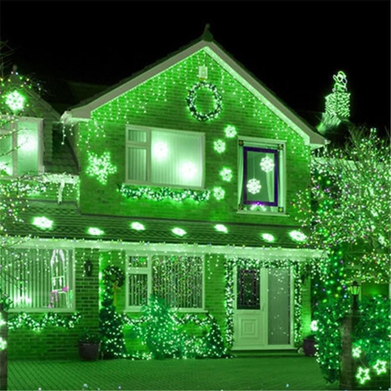 Гирлянда уличная Бахрома, 200 led, зеленая, белый/чёрный провод, 10м.