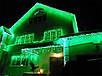 Гирлянда уличная Бахрома, 200 led, зеленая, белый/чёрный провод, 10м., фото 6