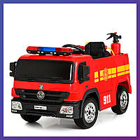 Детский электромобиль Fire engine с пультом Bambi M 4051 EBLR-3 пожарная машина | Дитячий електромобіль Бембі